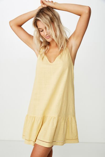 Woven Lulu Drop Hem Mini Dress, JOJOBA