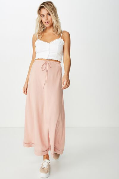 Woven Lola Bias Midi Skirt, MISTY ROSE