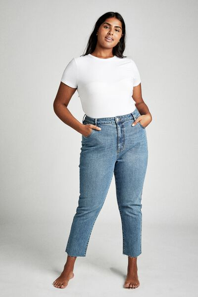 Curve Taylor Mom Jean, BOSTON BLUE