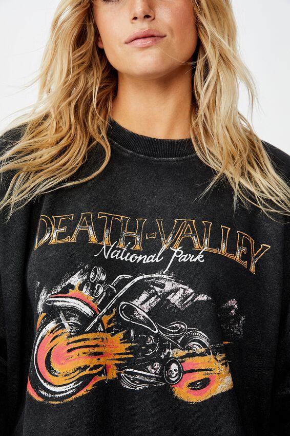Harper Boxy Graphic Crew, DEATH VALLEY BLACK
