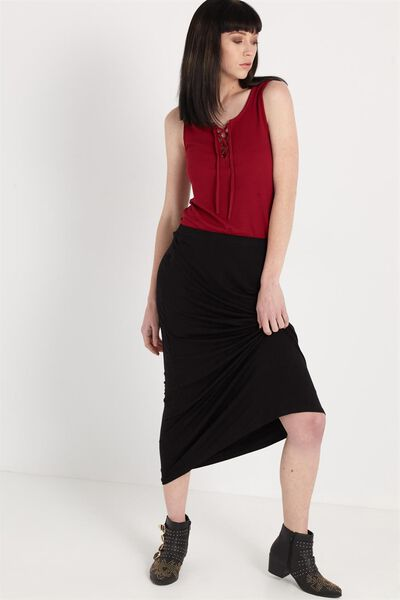 Moonshine 10 Maxi Skirt, BLACK