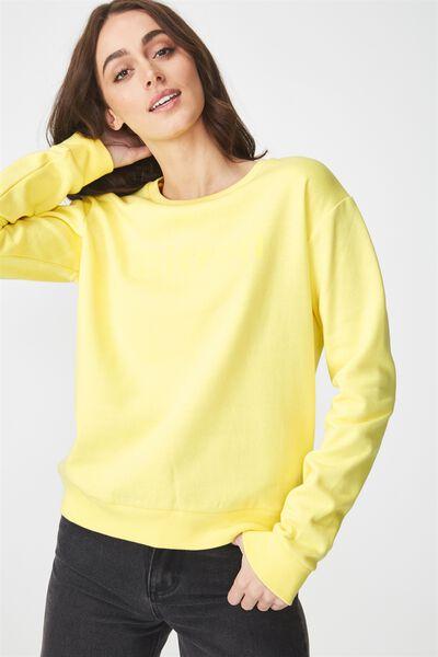 Ferguson Graphic Crew Sweatshirt, CITRON/LIMELIGHT