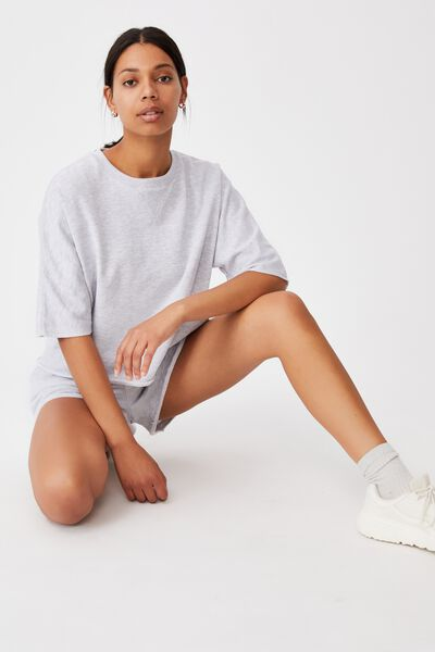 The Easy Short Sleeve Crew, SILVER MARLE