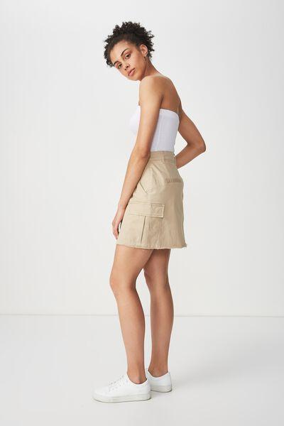 Utility Cargo Mini Skirt, SAND