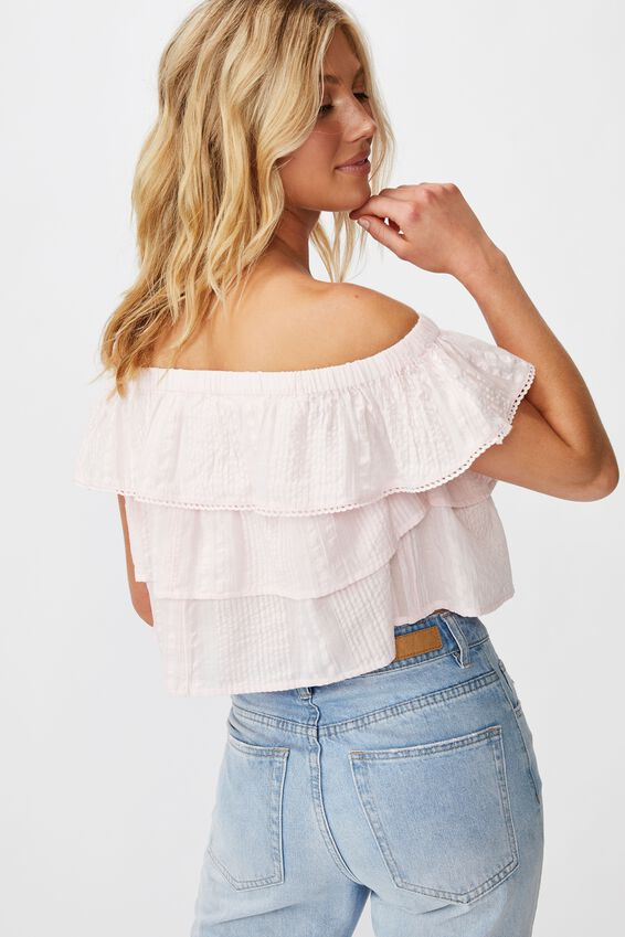 Sunshine Frill Off The Shoulder Top, ICY FROZE