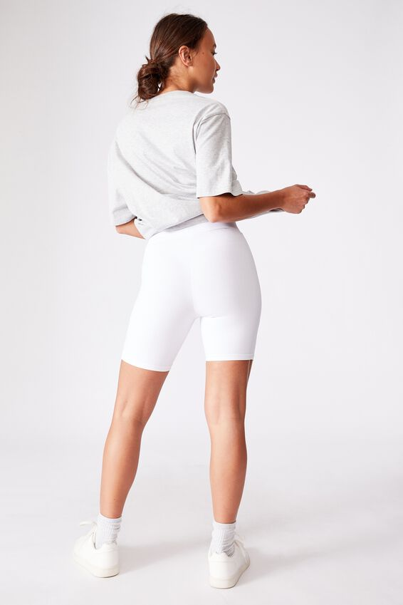 The Pip Jersey Bike Shorts, WHITE