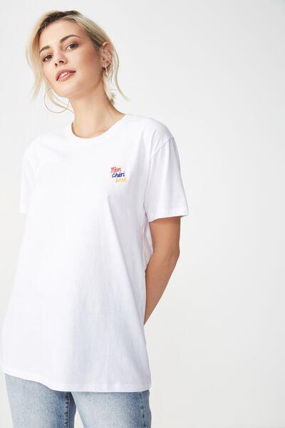 Tbar Fox Graphic T Shirt, MON CHEIR BEBE/WHITE