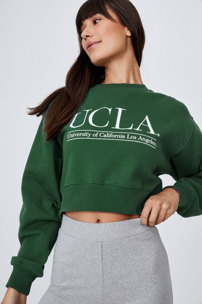 Collab Classic Cropped Crew, LCN HERITAGE GREEN/UCLA