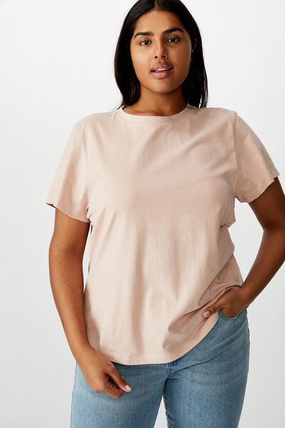 Curve The One Crew Tee, TAUPE ROSE