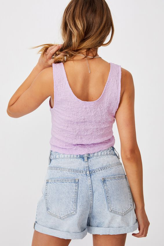 River Textured Tank Top, SOFT LILAC