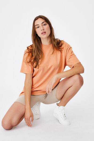 The Oversized Dad Tee, WASHED ROSE CLOUD