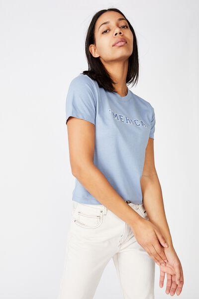 Essential Slogan T Shirt, MERICA/INFINITY
