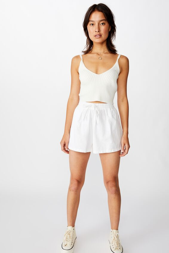 Pull On Short, BRIGHT WHITE