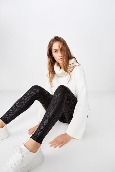 Chelsea High Waisted Legging, BLACK TONAL SNAKE