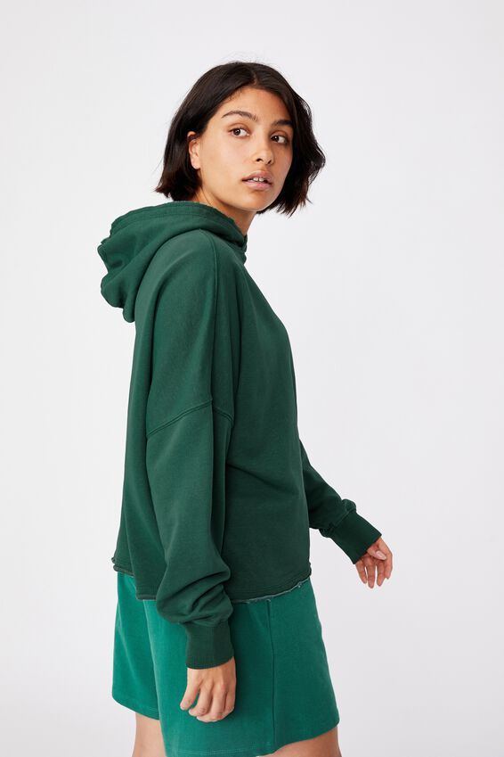 Clubhouse Hoodie, VINTAGE GREEN GARMENT PIGMENT DYE