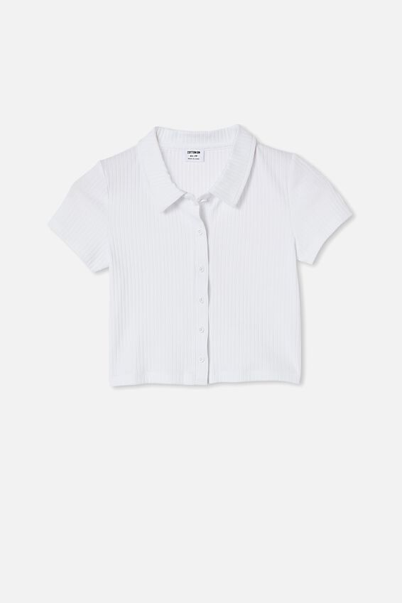 Mila Polo Short Sleeve, WHITE