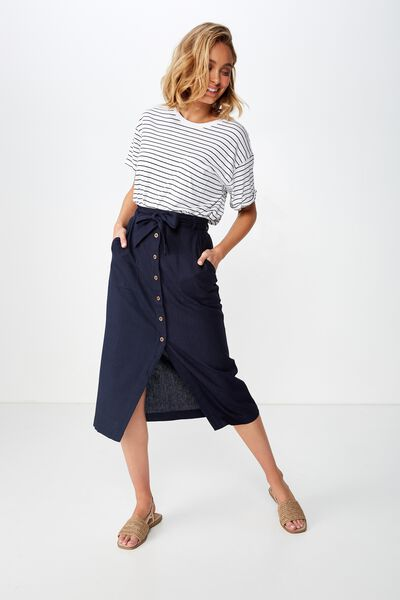 Woven Willow Midi Skirt, TOTAL ECLIPSE PATCH POCKET