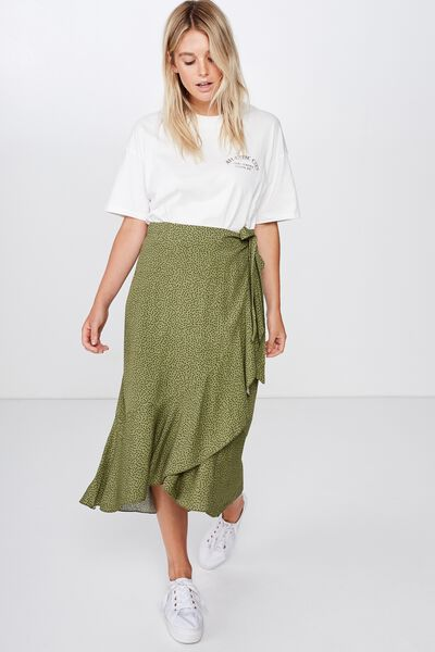 Ella Midi Skirt, RIO SPOT WINTER MOSS