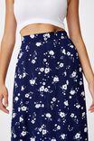 Amore Button Maxi Skirt, SABRA FLORAL NAVY