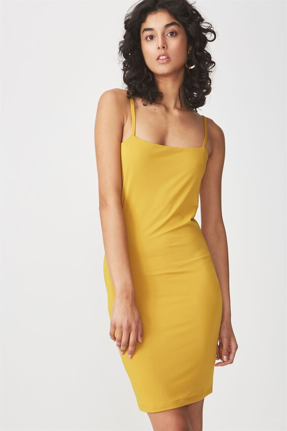 Freya Bodycon Dress, GOLDEN PALM