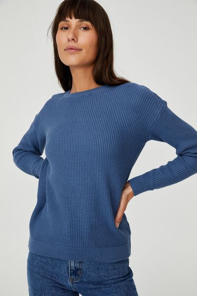 Cotton Pullover, COASTAL BLUE