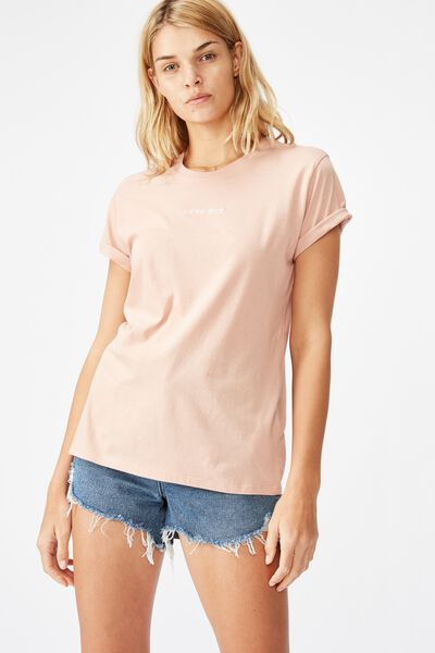 Classic Slogan T Shirt, LOVE BUG/MISTY ROSE