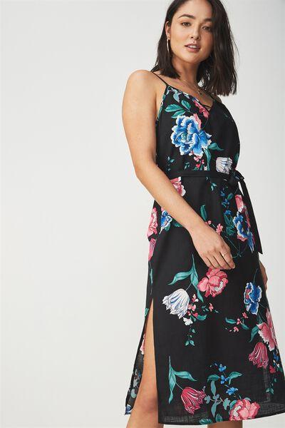 Woven Marce Midi Slip Dress, PENNY PINK