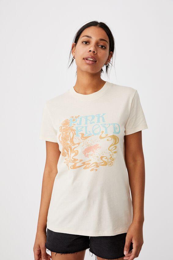 Classic Pink Floyd T Shirt, LCN PER PINK FLOYD VINTAGE/WARM SUGAR COOKIE