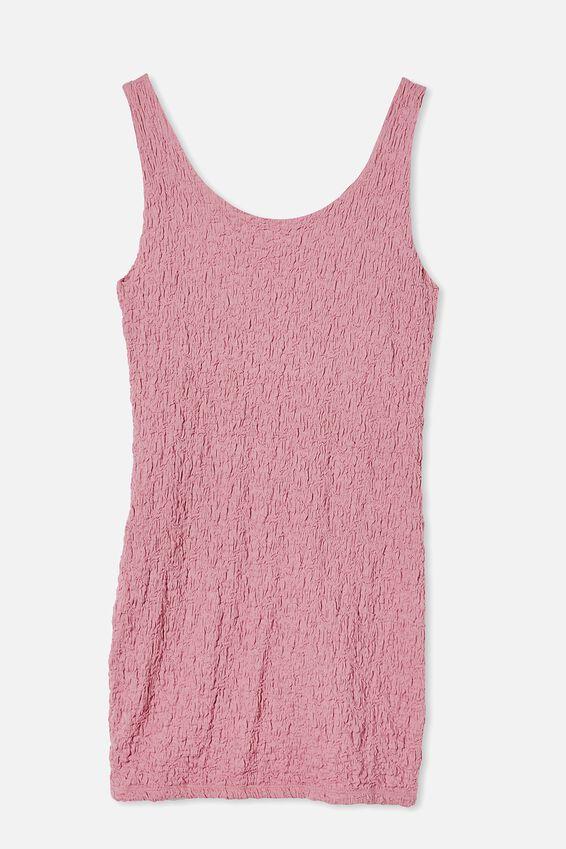 River Textured Mini Dress, BLUSH