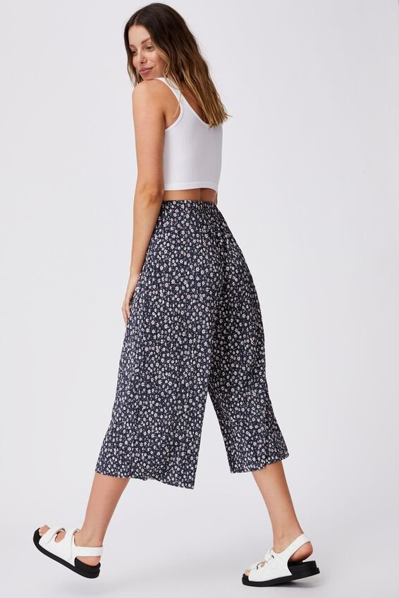 Poppy Pleated Pant, SUSIE DITSY MIDNIGHT FESTIVAL