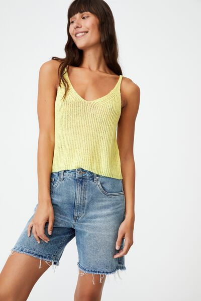Match Me Crop Tank, ICY YELLOW