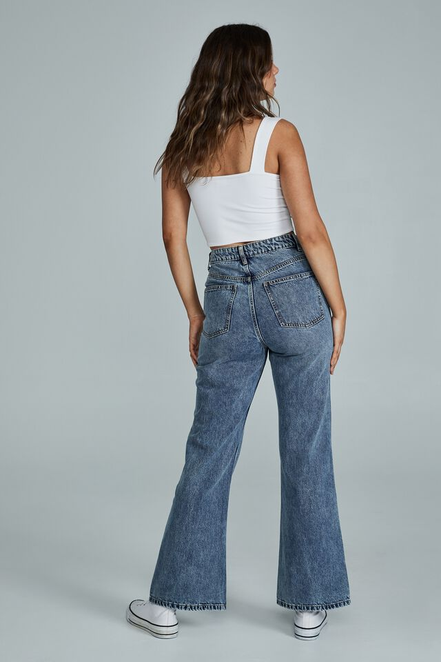 Relaxed Flare Jean, WATEGOS BLUE RIP