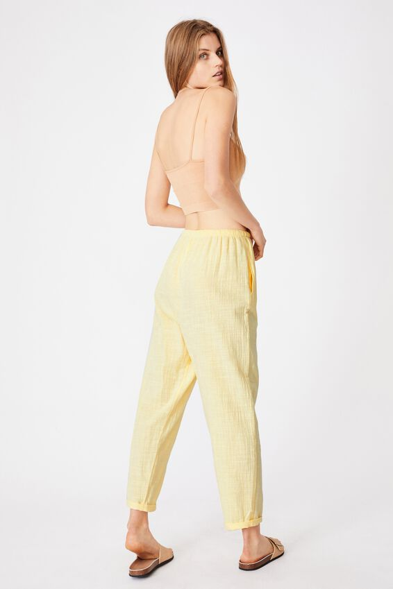 Cali Pull On Pant, LEMON