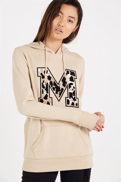 Delevingne Graphic Hoodie, LEOPARD M/OAT