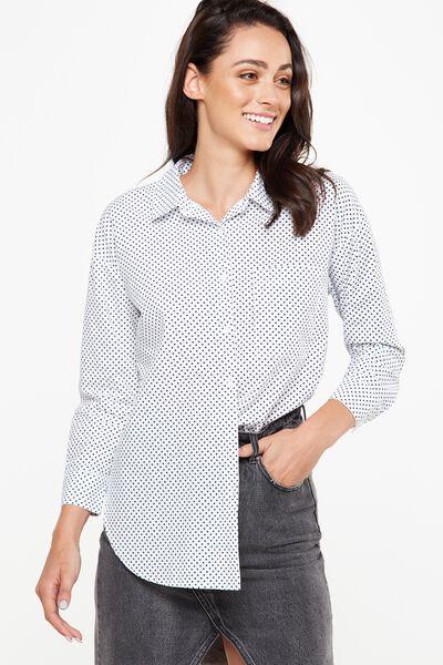 Millie Shirt, KARLA SPOT WHITE