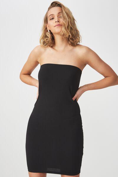 Amy Bandeau Bodycon Mini Dress, BLACK