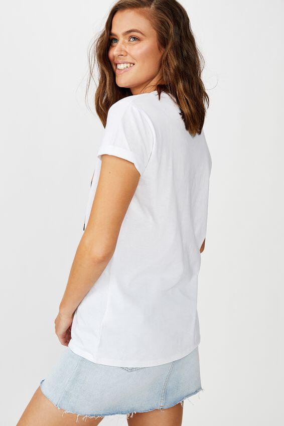 Classic Disney T Shirt, LCN DIS MEME SHARE YOUR FOOD/WHITE