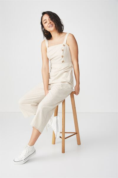 Woven Florence Strappy Jumpsuit, MULTI STRIPE NEP