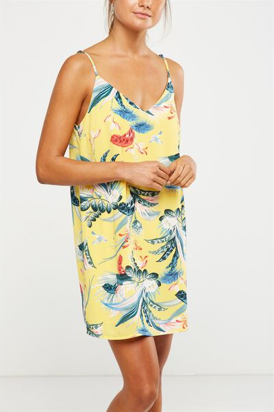 Woven Margot Slip Dress, IVANKA FLORAL SUNDRESS