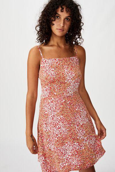 Woven Kendall Mini Dress, MANDY MULTI DITSY SCARLET