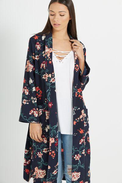 Pj Kimono, TASIA FLORAL MOOD INDIGO