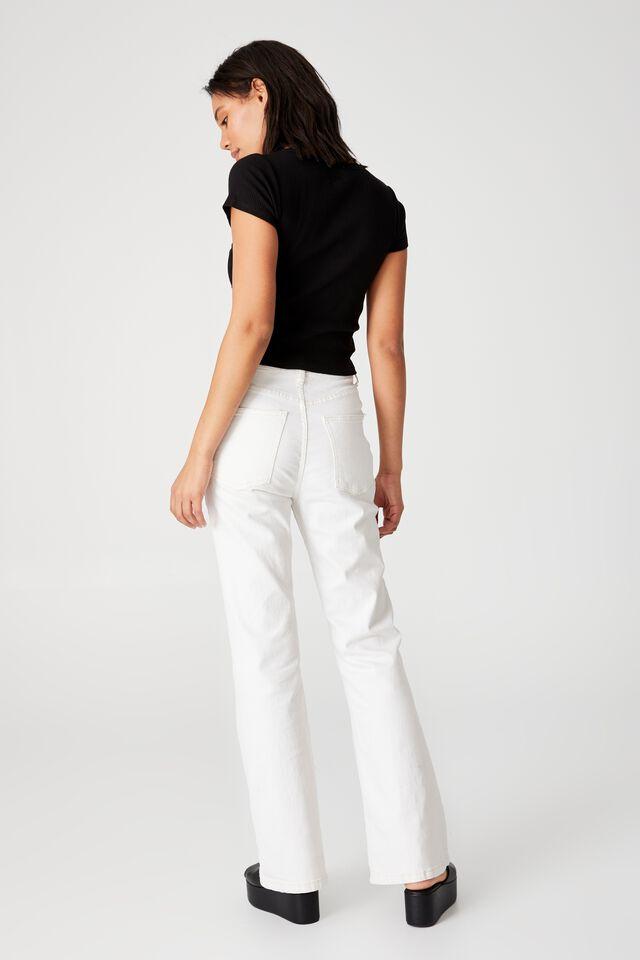 Luna Lace Trim Short Sleeve Top, BLACK