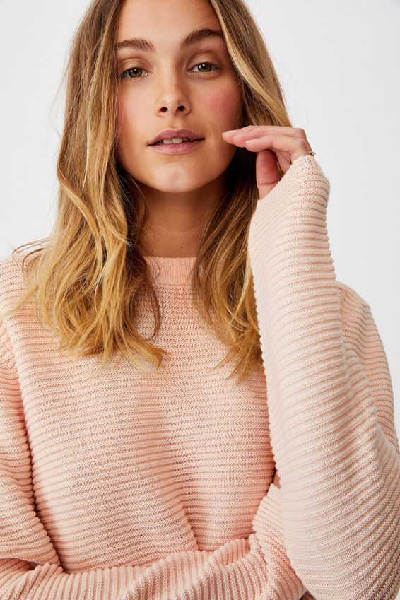 Cotton Cropped Pullover, SOFT PINK