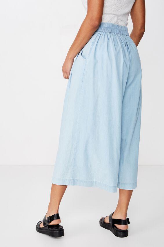 Luna Button Culotte, MID BLUE