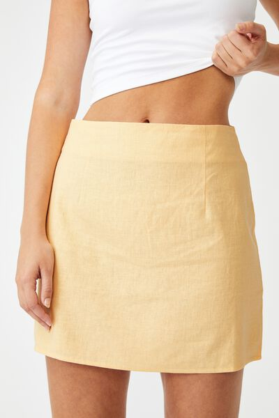 Ultimate A Line Mini Skirt, BRUSHED APRICOT