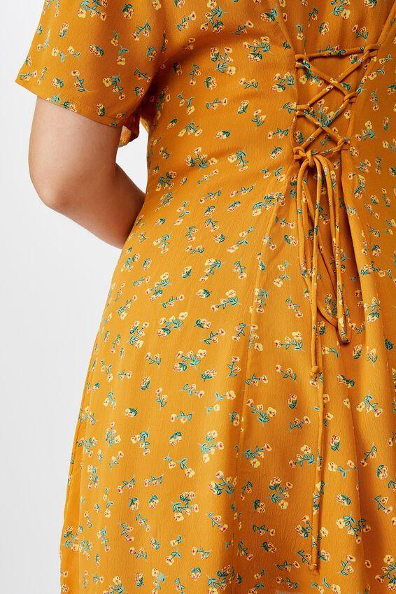 Curve Cindy Mini Dress, MADDISON FLORAL BITTER GOLD