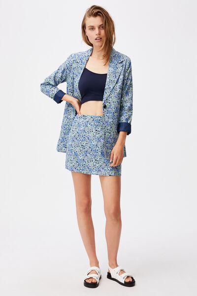 Ultimate Linen Blazer, HANNAH FLORAL BLUE DAISY
