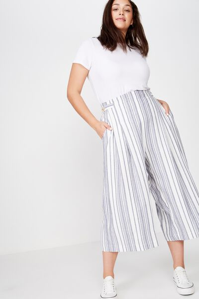 Curve Luna Button Culotte, LIZZIE STRIPE CROWN BLUE