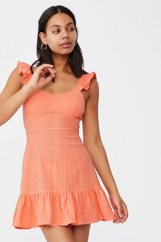Woven Blossom Strappy Mini Dress, DESERT FLOWER