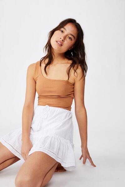 North Tiered Mini Skirt, WHITE